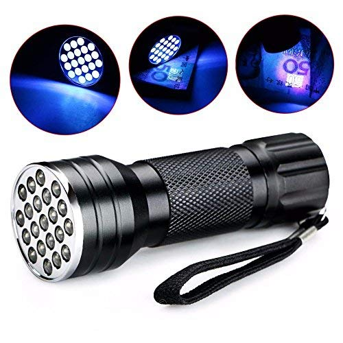 Hangang LED Taschenlampe UV Taschenlampe Schwarzlicht Taschenlampe Ultra violett Bewegungsmelder für Plotter Leuchtstoffröhren/Urin tierischen/Teppich
