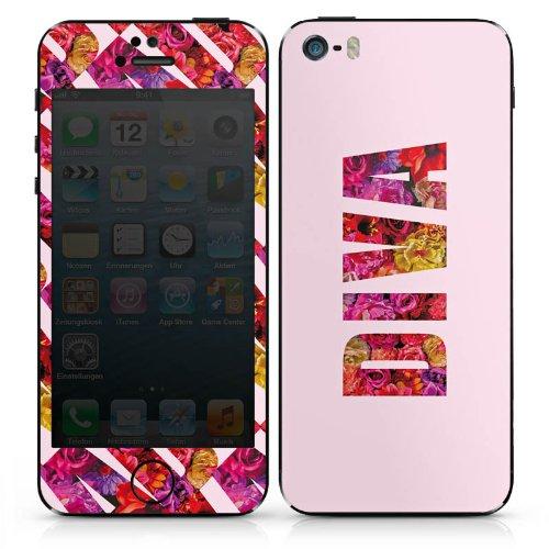 Apple iPhone 5s Case Skin Sticker aus Vinyl-Folie Aufkleber Mädchen Sprüche Frauen DesignSkins® glänzend
