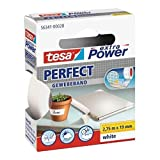 TESA Lot de 5 Rubans toilé adhésif Extra power 19 mm x 2,75 m Blanc