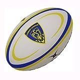 Gilbert Clermont Auvergne - Ballon de Rugby Réplique Officiel - Blanc/Bleu/Jaune - taille 5...