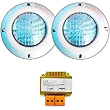 Warmpool Oferta 2 Focos LED RGB ON/Off con Transformador de Seguridad.WPFCD01