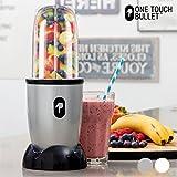Appetitissime One Touch Bullet - Batidora de vaso con accesorios, 250 W, color cromado