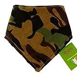 Dimples Bandana Cane - Verde Militare Mimetico (Fatto a Mano per Cani di Tutte Le Taglie) 40 cm