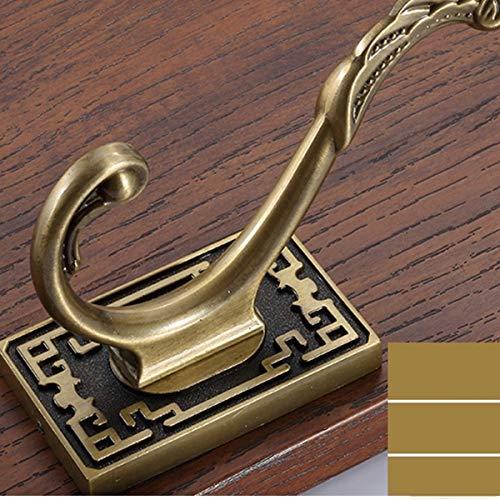 3/4/5/6 Brass Coat Hook. Solid Metal, Polished Gold, Wall Mounted, Bathroom/Kitchen Hardware Hat Towel Hook Rail 09-01 Brass Hook - Gecko Hat