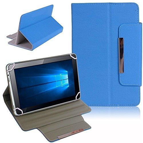 UC-Express Odys Cosmo Win X9 Tablet Tasche Hülle Schutzhülle Case Cover Leder-Optik Bag, Farben:Blau