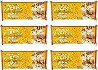 Harveys Crunchy & Creame Gourmet Delicacies Cream Wafer Biscuit 150 g Sticks - Vanilla Flavoured (Pack of 6)