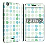 BLU Life XL [Phone Skin] - [SkinGuardz] Full Body Scratch Proof Vinyl Decal Sticker with [WallPaper] - [Dots Green] for BLU Life XL