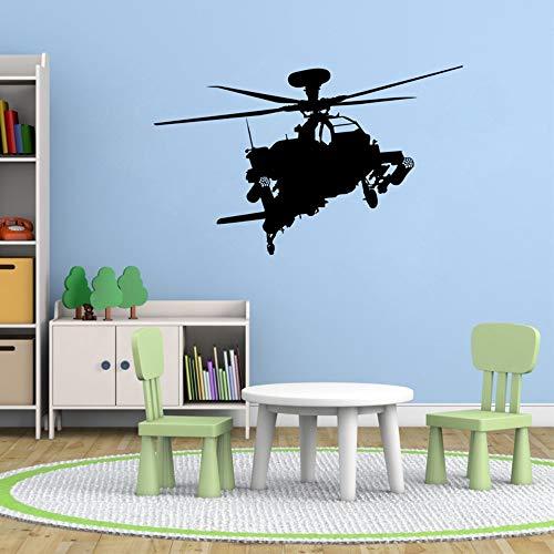 Apache Hubschrauber Vinyl Wandtattoo Aufkleber Military Kinder Flugzeug Gun Art Decor 56X32cm