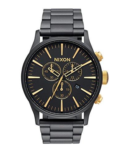 nixon-sentry-chrono-matte-black-gold-summer-2015-one-size