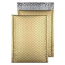 Blake Purely Packaging C4 324 x 230 mm Matt Metallic Padded Bubble Envelopes Peel & Seal (MTMG324) Metallic Gold - Pack of 100