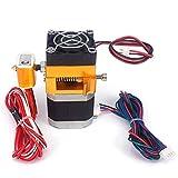 Doppeldruckkopf MK8 Extruder Dual Hotend 12 V/24 V, 0,4 mm, kompatibel mit 1,75 mm Filamenten