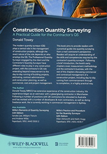 Construction Quantity Surveying: A Practical Guide for the Contractor′s QS
