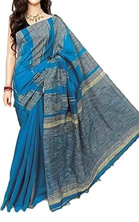 Generic Silk Saree (18C001_Blue)