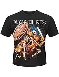 Plastic Head Men's Black Veil Brides Skelewarrior Short Sleeve T-Shirt