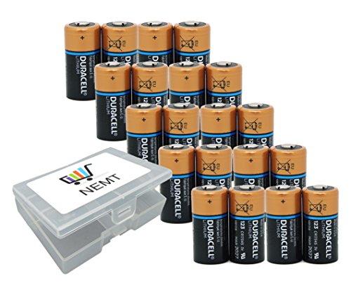 20x Duracell CR123 CR123A 123A Lithium Photo Batterie 3 Volt mit Flachbox Duracell 3v Lithium Photo Batterie