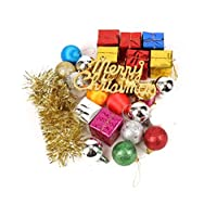 26 Pcs small Christmas decoration Christmas ball gift box set Merry Christmas letter Xmas tree Ornament