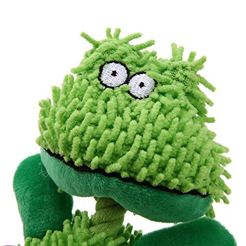 Beito Soft Shaggy Corduroy Hund kauen Spielzeug ungiftig langlebige Klang Haustier kauen Squeaky Squeaker Spielzeug für die Befriedigung Hund Chew Instinkt (Frosch) -