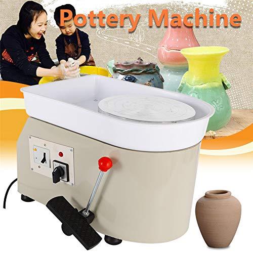 YIYIBY Töpferscheibe, Töpferei Umformmaschine 350 Watt 25 cm Elektrische Töpferscheibe DIY Lehm Werkzeug mit Tablett für Keramik Arbeit Keramik Lehm