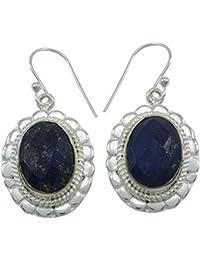 925 de la piedra preciosa de plata cuelga el pendiente de regalo indio joyería de la manera determinada para las mujeres
