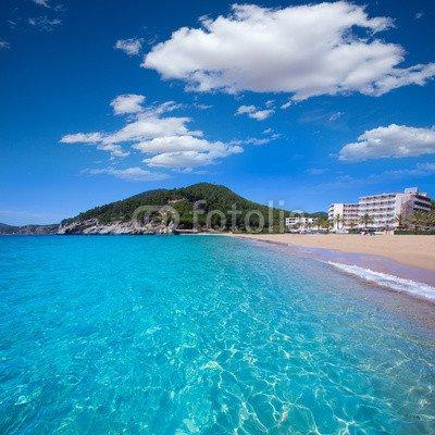 "Alu-Dibond-Bild 60 x 60 cm: ""Ibiza cala San vicente beach san Juan at Balearic Islands"", Bild auf Alu-Dibond"