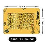 TS-nslixuan-Mauspad Cute Girl Anime kreative Verdickung Mouse Pad Persönlichkeit Computer Schreibtisch Matte 26 X 21 Cm, Lanting Pavillon