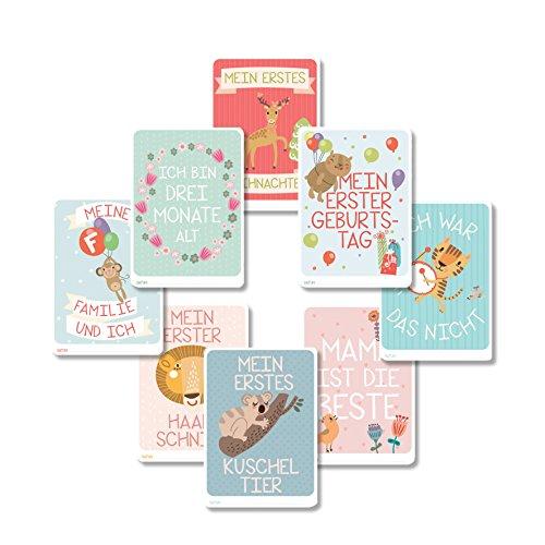 DaDaDii 31 Baby Foto Karten für das erste Lebensjahr – Das perfekte Geschenk