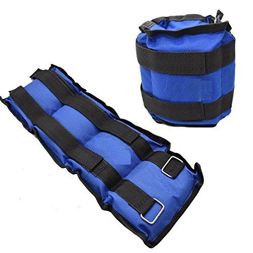 Ducomi juri pesi caviglie e polsi - polsiere cavigliere sportivi palestra e casa - pesetti fitness ideali per lo sport e l'allenamento - migliorano il tono muscolare degli arti (blue, 2 x 1,5 kg)