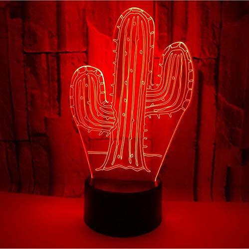 Nachtlicht 3D Kaktus Acryl Lampe 7 Farbwechsel 7 Farbe Led Usb Schreibtischlampe Atmosphäre Acryl Kinderzimmer Schlafzimmer Wohnkultur