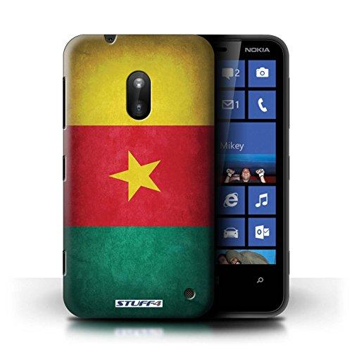 Kobalt® Imprimé Etui / Coque pour Nokia Lumia 620 / France/français conception / Série Drapeau Cameroun