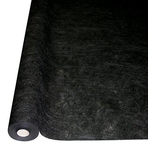 """25m x 1,20m Einweg-Tischdecke """"Airspun"""" Textilfaser-Vlies schwarz"""