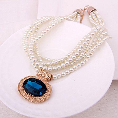 - mash - up - perlen falsche kragen Crystal Pearl WEIBLICHE dekoration brachte südkorea Joker pseudo - kragen Paket post