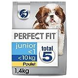 PERFECT FIT Junior Croquettes pour Petit Chiot (<10kg) au Poulet 1,4 kg