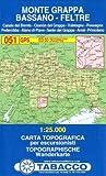 Monte Grappa, Bassano, Feltre 1:25.000