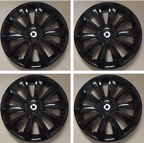 Unit.ec 4X Radkappen 15 Zoll in schwarz für Smart Inkl Embleme