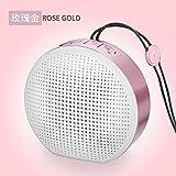 LLZMNYX Mini Stereo Lautsprecher/ Wireless/Bluetooth Lautsprecher/Handy/Auto-Karte Mini-Lautsprecher/Geburtstag/Geschenk/Valentinstag/Tragbar/Subwoofer/Mini/Home, A Gold