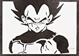 Poster Vegeta Dragon Ball Handmade Graffiti Street Art - Artwork