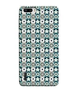 PrintVisa Designer Back Case Cover for Huawei Honor 6 Plus (Pattern Cubes)