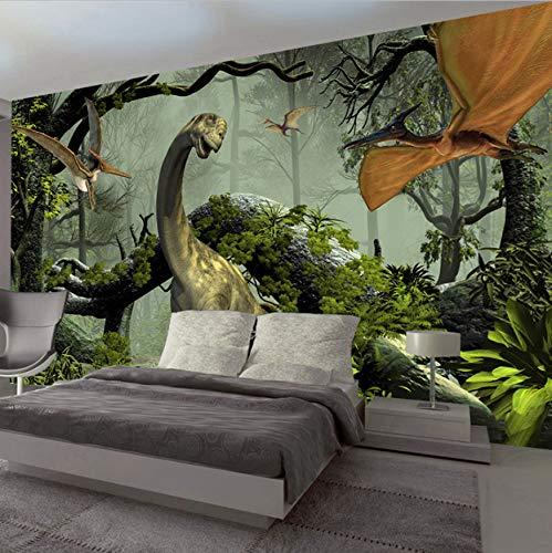 VVNASD 3D Wandbilder Dekorationen Tapete Wand Aufkleber Stereo Dinosaurier Theme Primitive Wohnzimmer Schlafzimmer Hintergrund Dekor Kunst Kinder Tv (W) 300X(H) 210Cm
