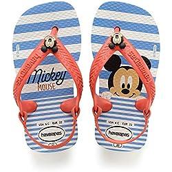 Havaianas Baby Disney Classics II - Sandalias Unisex Niños, Multicolor (White/Strawberry 2478)
