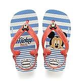 Havaianas Unisex Baby Disney Classics II Zehentrenner, Mehrfarbig (White/Strawberry) , 24 EU (22 BR)