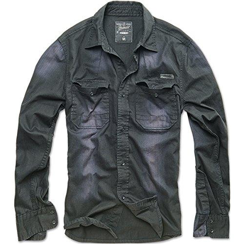 brandit-hardee-denim-camicia-nero-taglia-xl