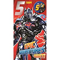 Transformers Age 5 Badged Birthday Card
