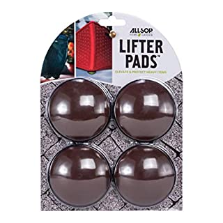 Allsop Home and Garden Lifter Pads, Protect Floors, Decks and Patios with 3,000 lbs rating, discreet non-skid pad lifters/risers / feet/toes, (Cocoa, Set of four, 1-Count)