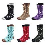 RioRiva Socken Herren - Fein Baumwoll - Gemustert und bunt - Europäische Qualität - Mehrfachpack (BSK97-6 Paare Mehrfarbig, EU 41-46/UK 8-12)
