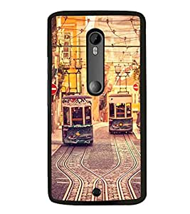 Trams 2D Hard Polycarbonate Designer Back Case Cover for Motorola Moto X Style :: Moto X Pure Edition