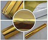 8,70€/m² Auto Folie - Chrom gold - selbstklebend BLASENFREI flexibel Car Wrapping Klebefolie folieren
