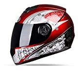 YXDDG Motorradhelm Mit Abnehmbaren Winter Halstuch,Offener Helm mit Schild:Matt Black-X 54-59cm(21-23inch)