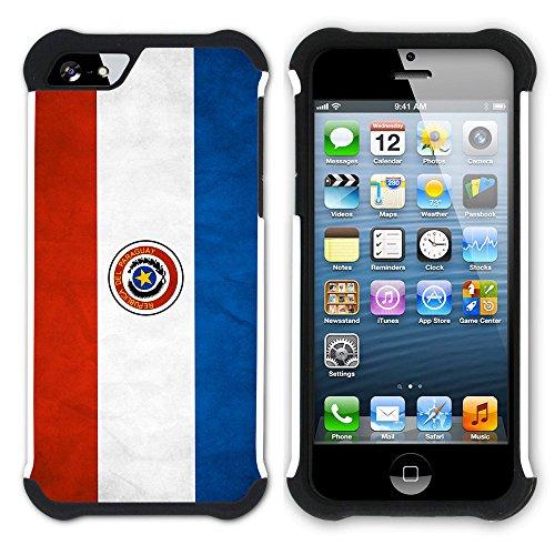 Graphic4You Vintage Uralt Flagge Von Venezuela Venezolanisch Design Hart + Weiche Kratzfeste Hülle Case Schale Tasche Schutzhülle für Apple iPhone SE / 5 / 5S Paraguay Paraguayer