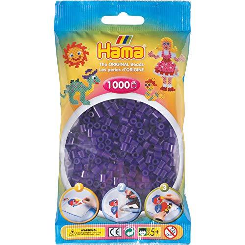 Hama - Bolsita de Cuentas de 1000 Unidades, Color púrpura (20724)