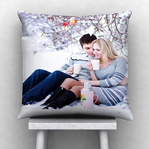 Personalized Photo Satin 100 TC Pillow/Cushion- White, 12*12